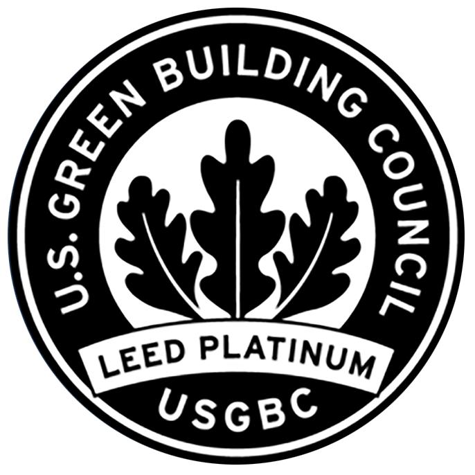 Das Siegel des Leed Platinum Zertifikats